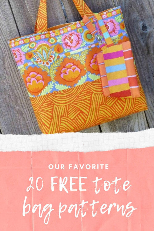 20 FREE tote bag sewing patterns. Al lof favorite (so far) tote bag purses and shoppers to sew, and all with free patterns. Tote bags for shopping and the market, fold up tote bag, tote bag purses and more. Lots of easy tote bag patterns for beginners, and plenty of smart tote bag purse sewing patterns for beginner plus. Free and easy DIY tote bag patterns.