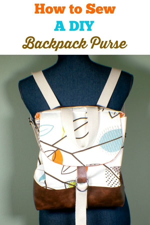 DIY Backpack Purse Free sewing pattern