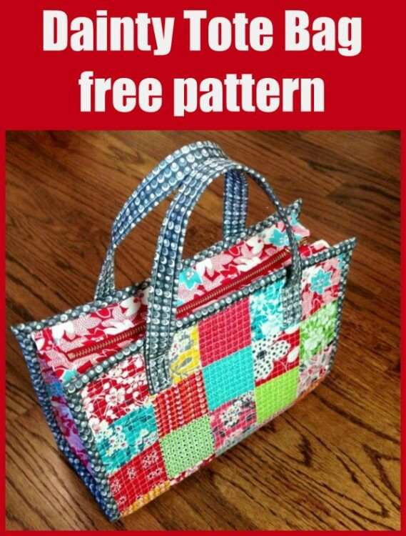 Dainty Tote Bag free pattern