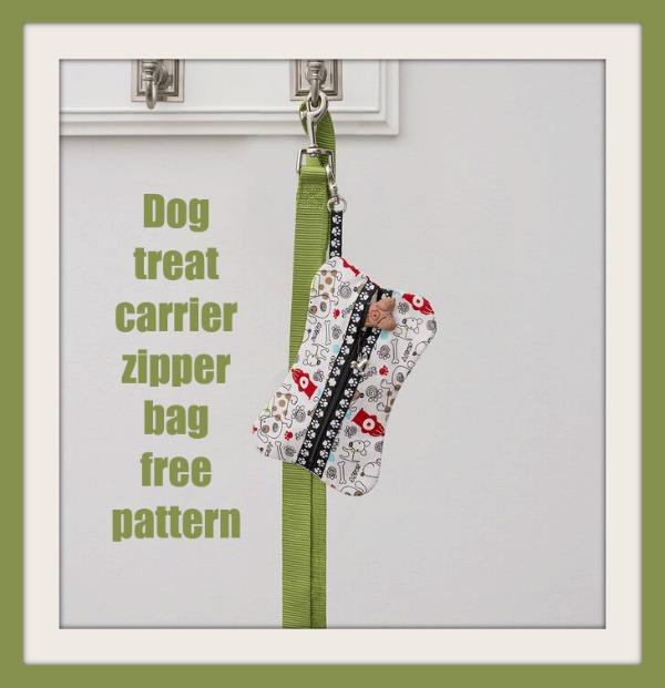 Dog treat carrier zipper bag free pattern