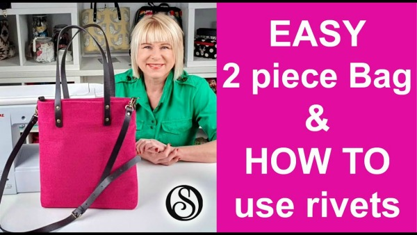 Easy Two Piece Bag and How to apply rivets FREE video tutorial