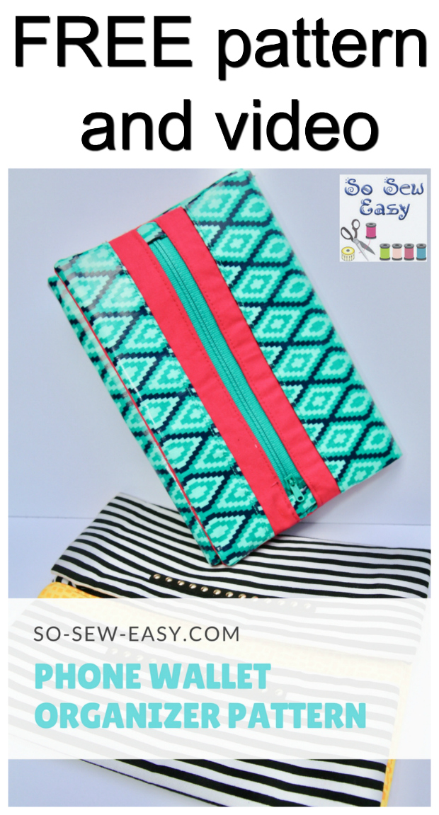 Easy phone wallet organizer - free pattern + video
