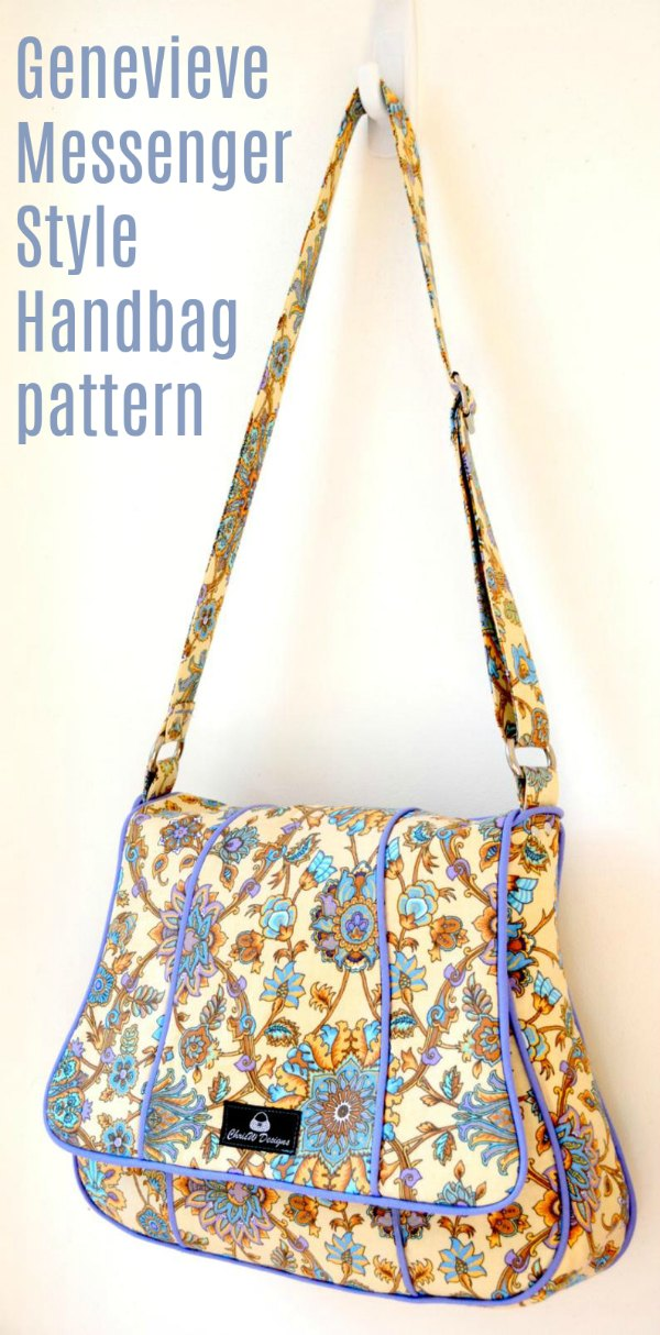 This is the digital pattern for the Genevieve Messenger Style Handbag which comes with instructions to make three versions. You can choose from Plain with no piping, Regular flap with piping or Shaped flap, or make all three.