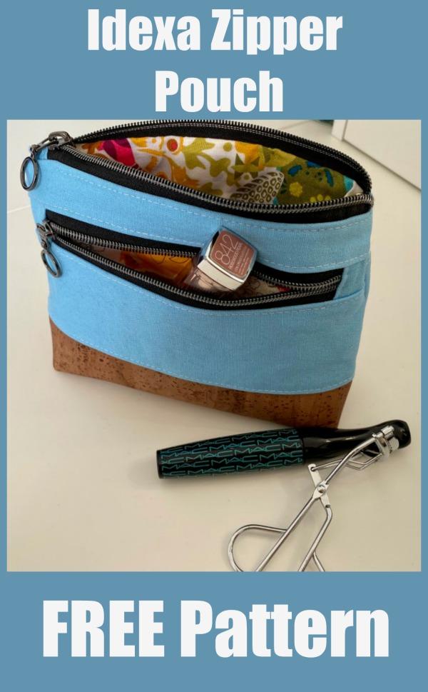 Idexa Zipper Pouch FREE sewing pattern
