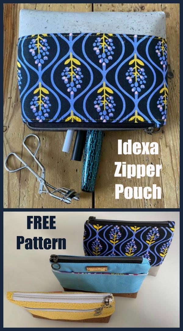 Idexa Zipper Pouch FREE pattern