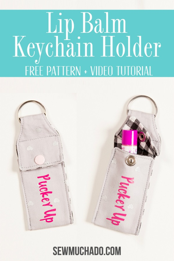 Lip Balm Keychain Holder free pattern and video tutorial