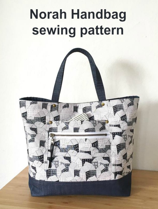 With the Norah Handbag digital pattern, as an advanced beginner sewer, you can create your own beautiful everyday purse.