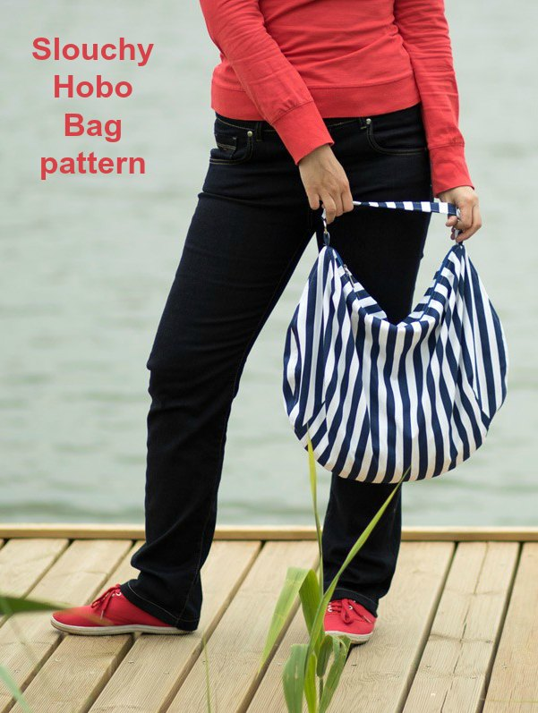 Here is a very reasonably priced digital sewing pattern for a hobo bag, it's called the Slouchy Hobo Bag. If you are looking for a perfect summer bag design then this hobo bag will be an excellent choice.