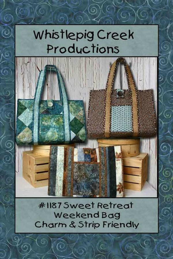 Three tote bags from a sewing pattern