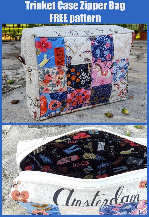 Trinket case zipper bag FREE pattern