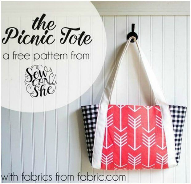 Picnic Tote Bag - free pattern