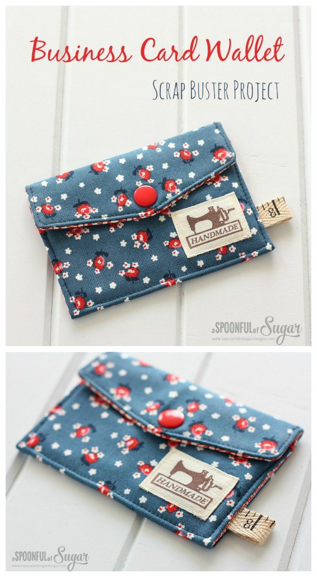 Business card wallet - free tutorial & pattern