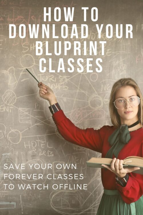 Step by step tutorial on how to save ALL of your BluPrint classes with just a few clicks. No need to download each lesson or each class individually with this software and easy 'set it and leave it' download method. #BluPrint #Craftsy