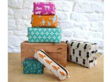 Boxy Pouch Set pattern 6 sizes