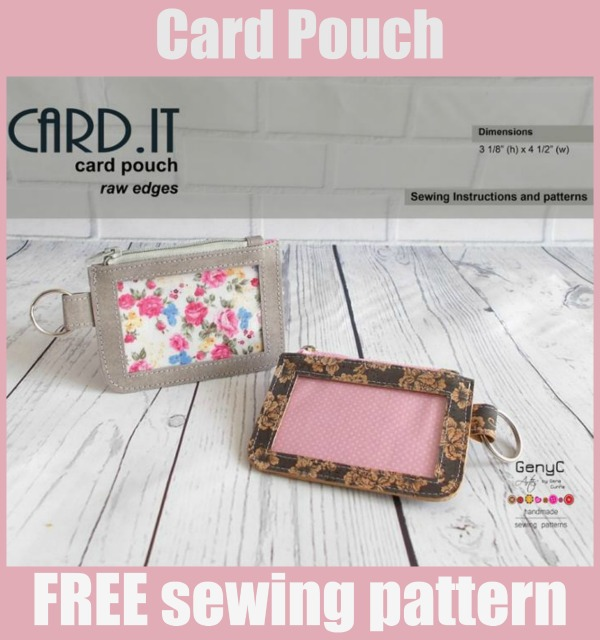 Card Pouch FREE sewing pattern