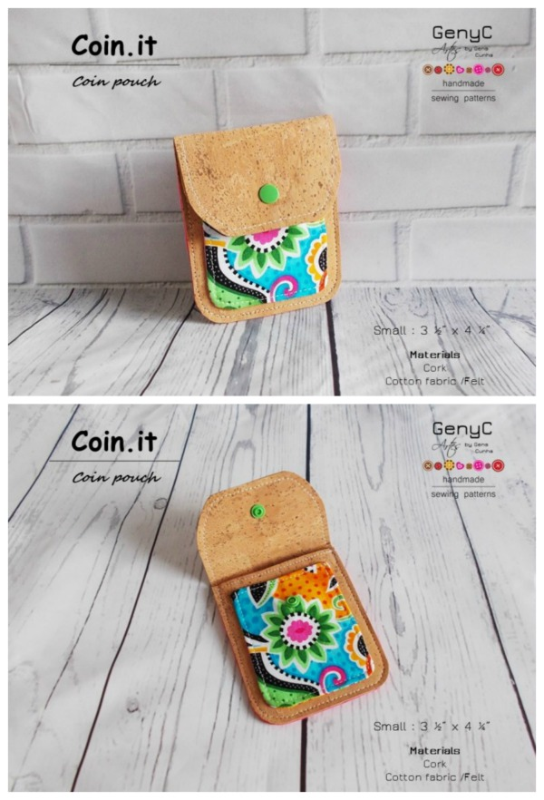 Coin.It Coin Pouch pattern in 2 different sizes.
