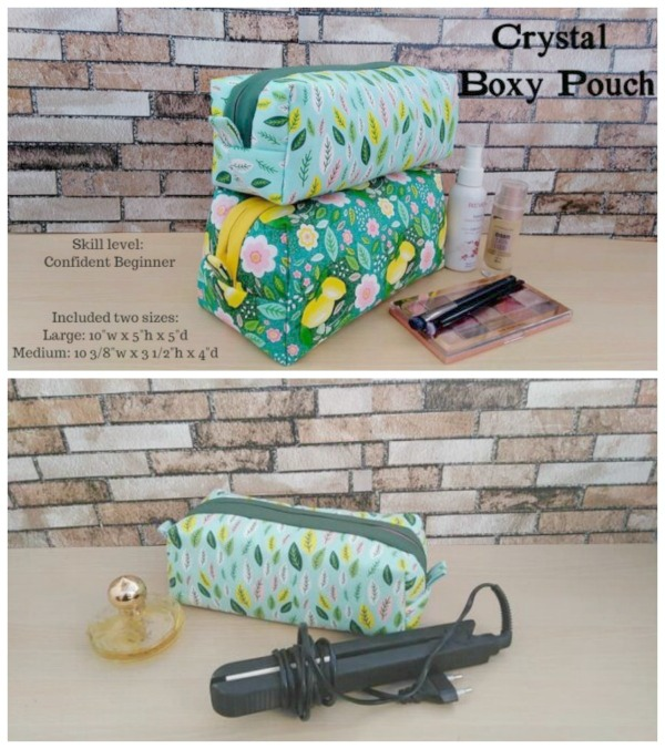Crystal Boxy Pouch sewing pattern