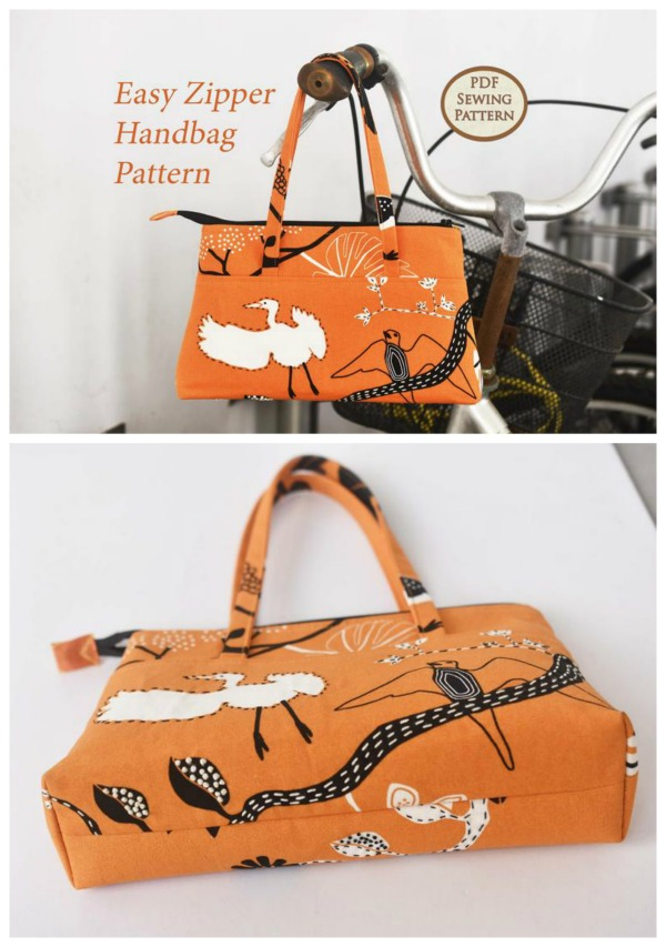 Easy Zipper Handbag pattern