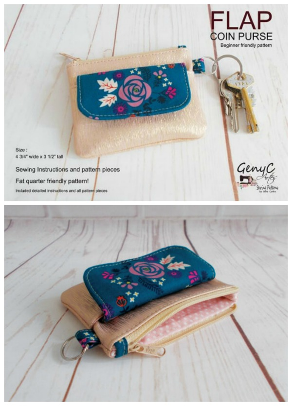 Flap Coin Purse pattern