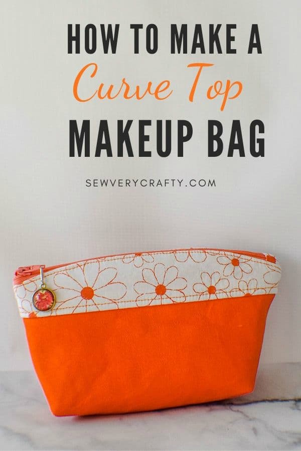 How to make a Curve Top Makeup Bag free pattern