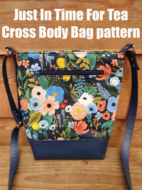 Just In Time For Tea Cross Body Bag pattern