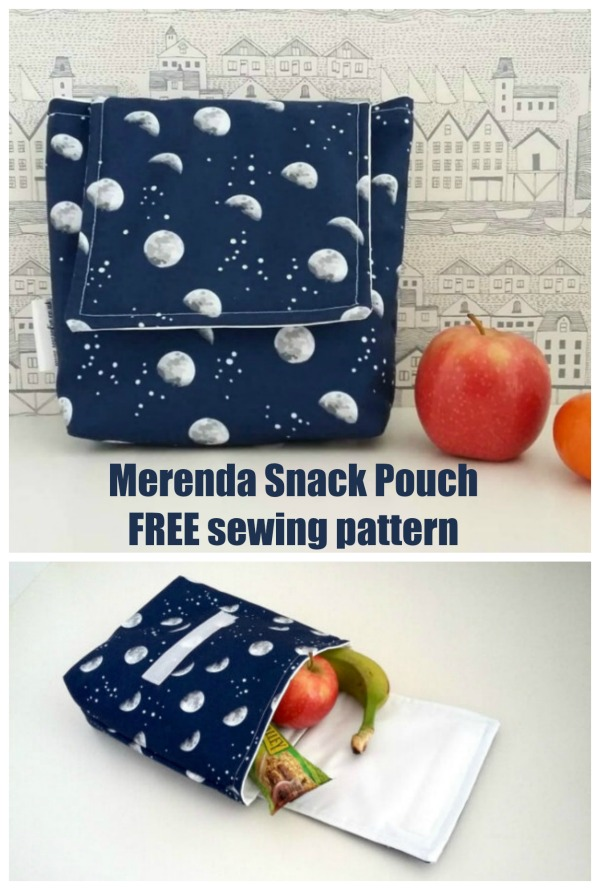 Merenda Snack Pouch FREE sewing pattern