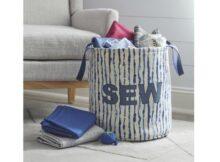 Supersized fabric basket free pattern