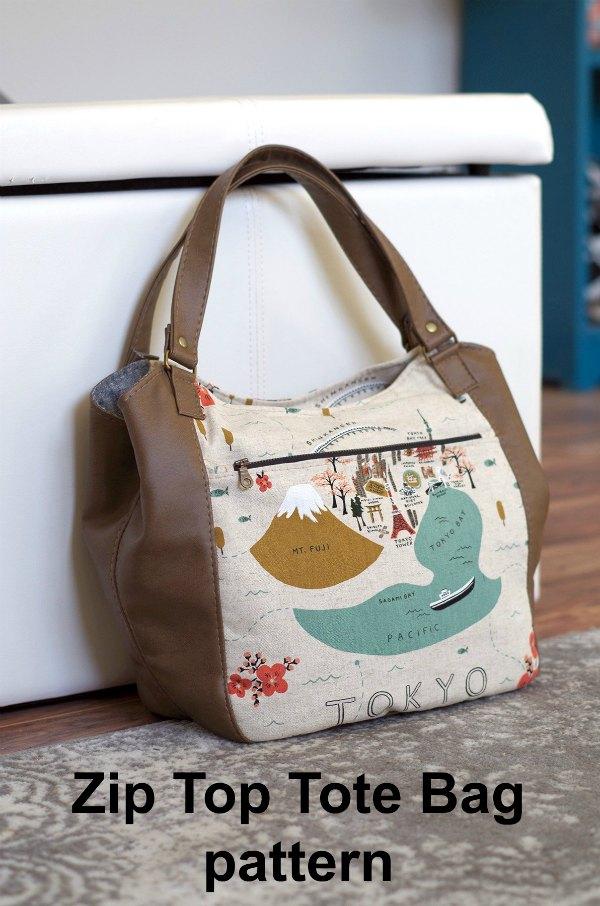 This is the Celine Zip Top Tote Bag digital pattern.