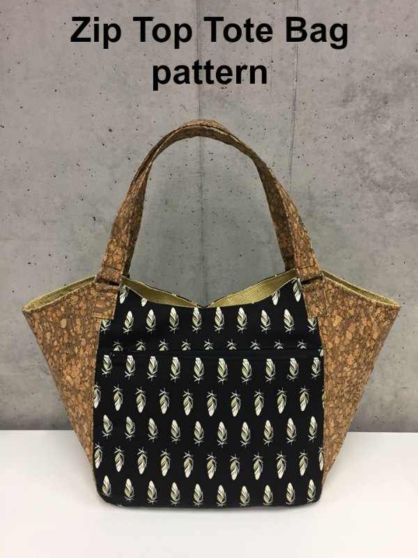 This is the Celine Zip Top Tote Bag digital pattern. The fantastic designer has made her Celine bag look like a handbag but has given it a tote bag functionality, making it the perfect everyday bag.