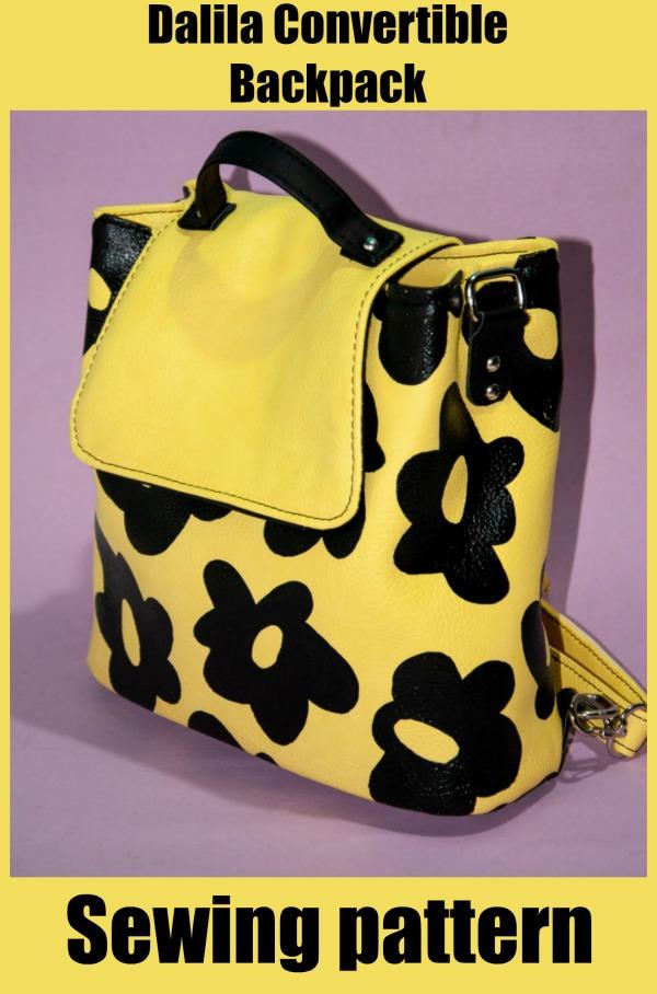 Dalila Convertible Backpack sewing pattern