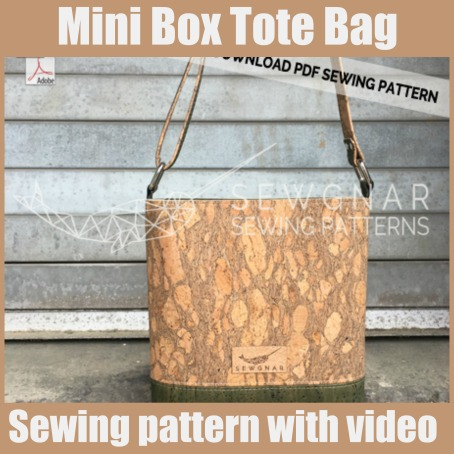 Mini Box Tote Bag sewing pattern with video