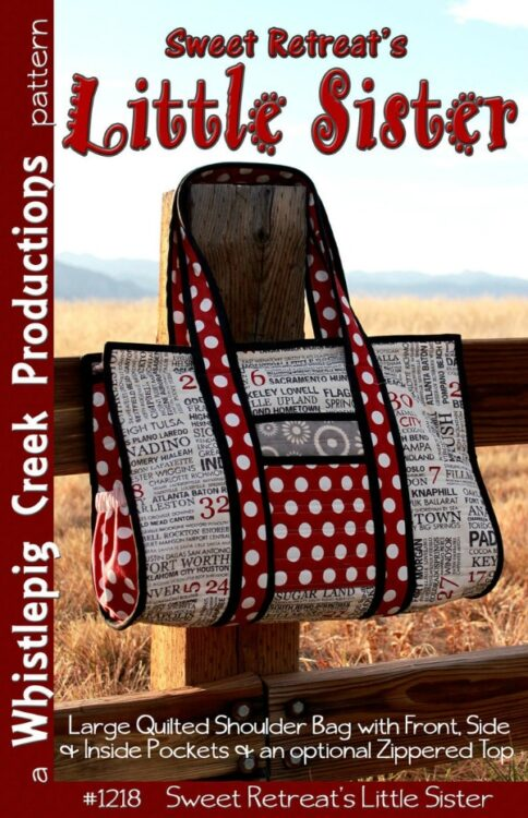 Sewing pattern for the Sweet Retreat's Little Sister Tote Bag