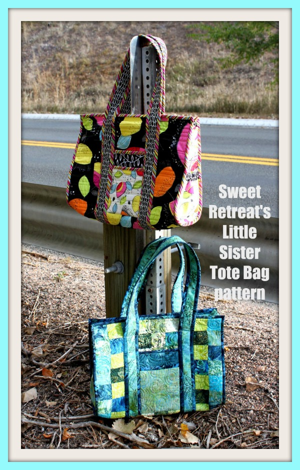 Sweet Retreat's Little Sister Tote Bag pattern