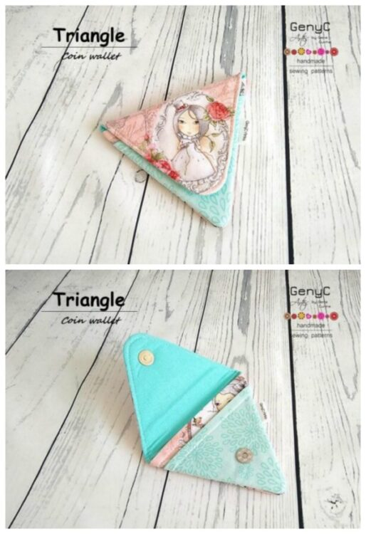Triangle Coin Wallet pattern