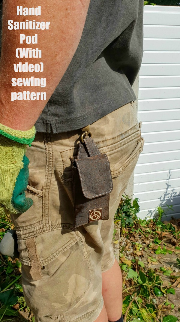 Hand Sanitizer Pod (With video) sewing pattern