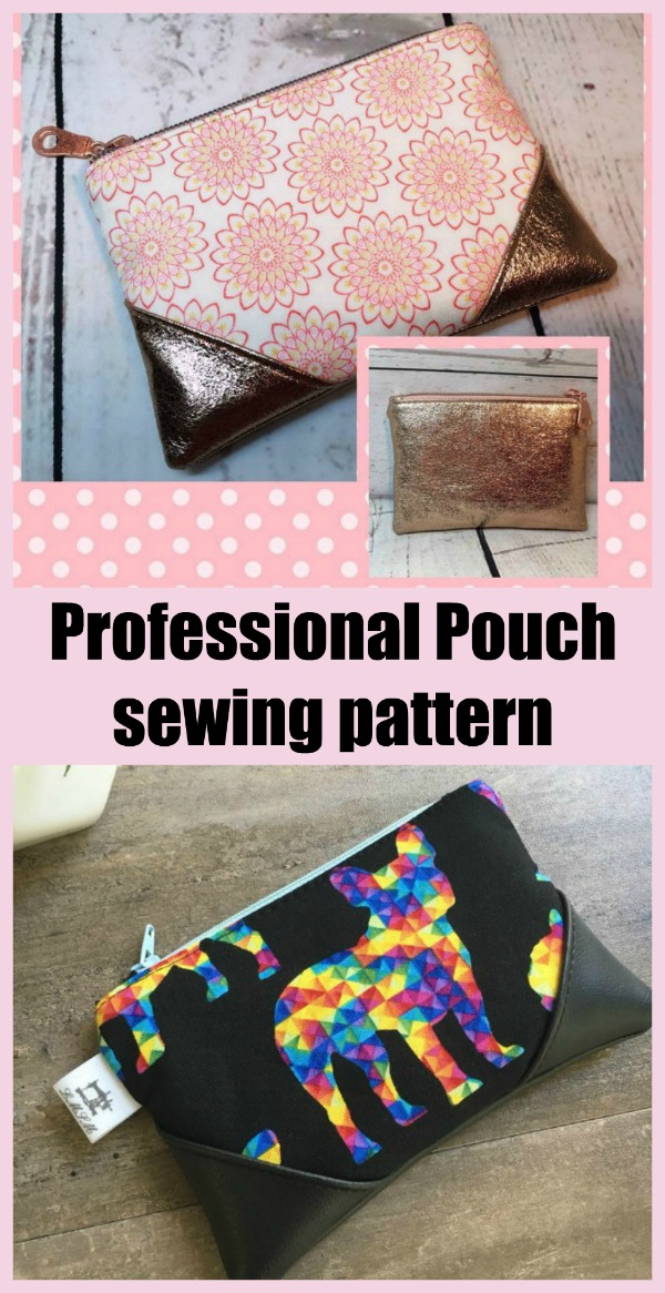 Professional Pouch sewing pattern