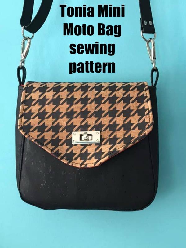 Tonia Mini Moto Bag sewing pattern