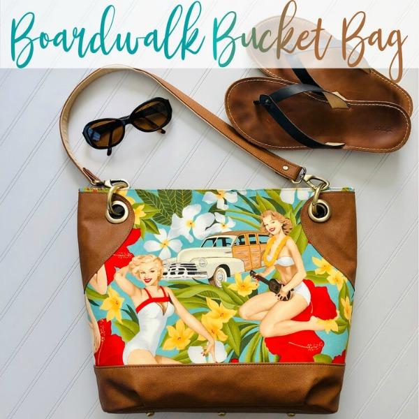 Boardwalk Bucket Bag (2 sizes) sewing pattern