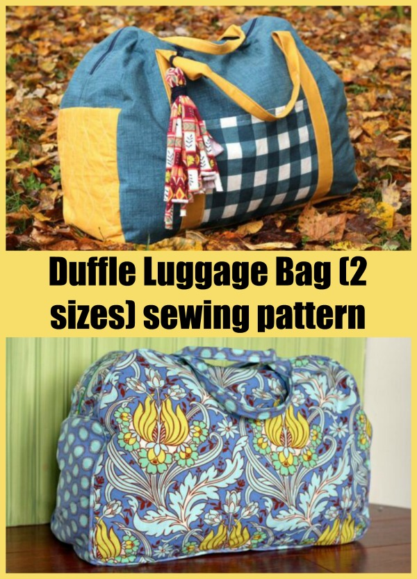Duffle Luggage Bag (2 sizes) sewing pattern