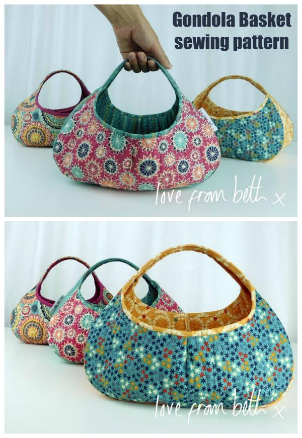Gondola Basket sewing pattern