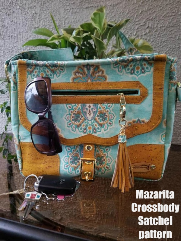 Mazarita Crossbody Satchel sewing pattern