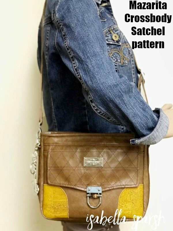 Mazarita Crossbody Satchel sewing pattern