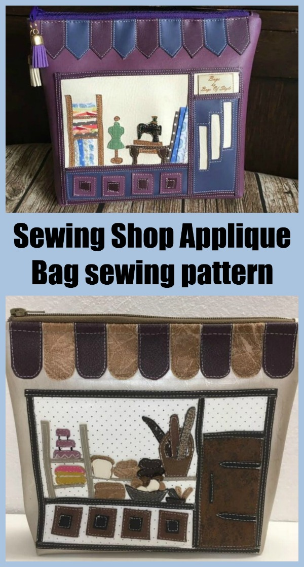 Sewing Shop Applique Bag sewing pattern