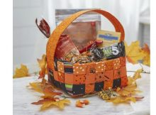 Woven Halloween Basket FREE sewing pattern