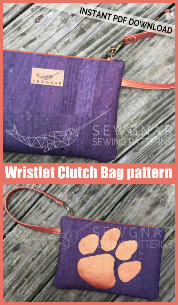 Wristlet Clutch Bag sewing pattern