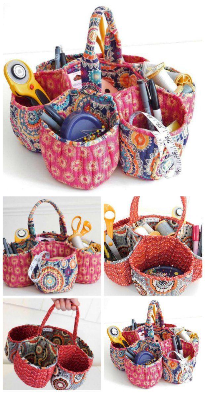Gorgeous honeycomb storage basket sewing pattern