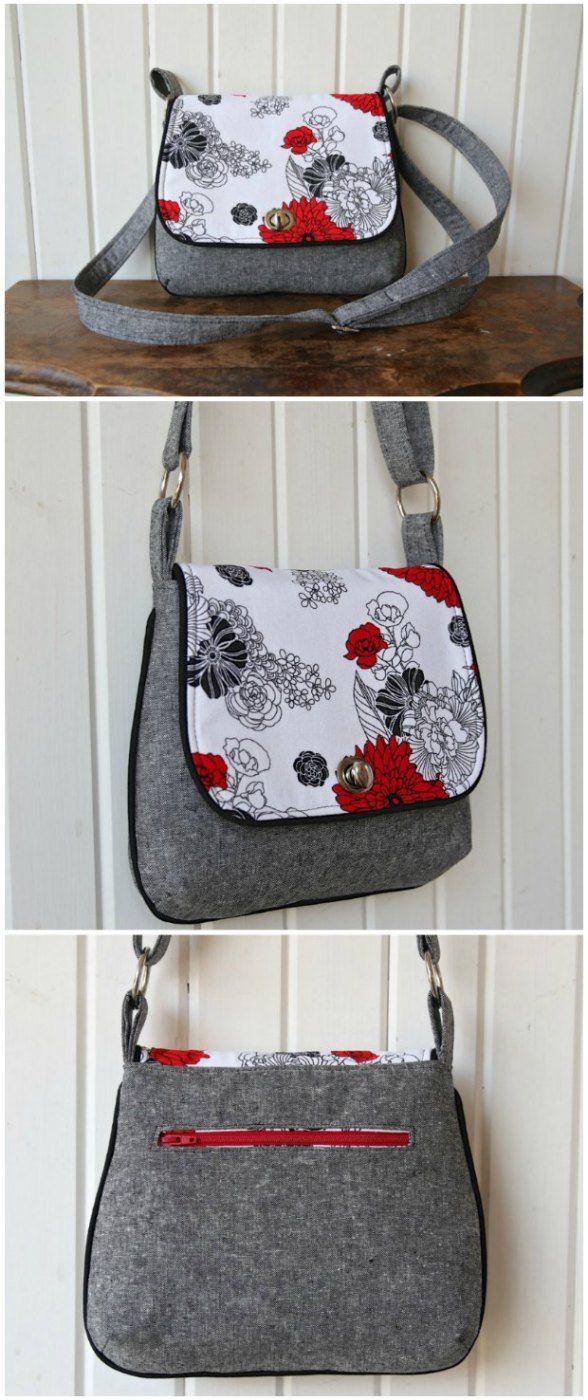 Mini Messenger Bag - free sewing pattern.