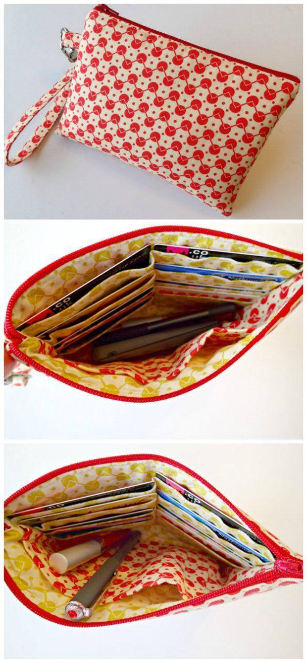 Easy beginner wristlet bag pattern with video