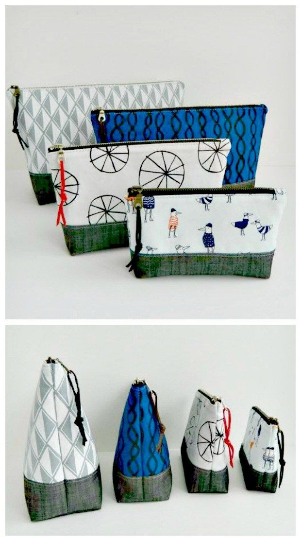 The Essential Pouch sewing pattern in four sizes