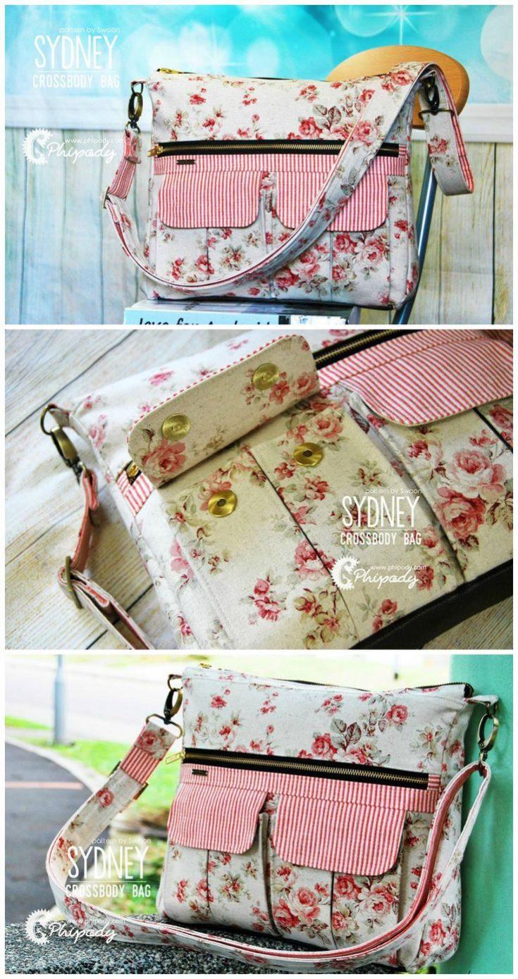 Sydney Crossbody Bag sewing pattern